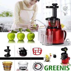 Cel mai bun storcator de fructe si legume Greenis cu presare la rece