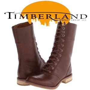 Cizme din piele cu siret Timberland pentru femei