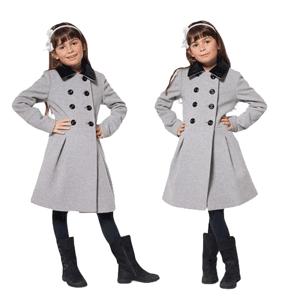 Jacheta din lana pentru fete 6-12 ani