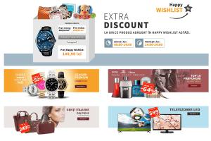 Campaniile de reduceri Happy Wishlist Discount la elefant