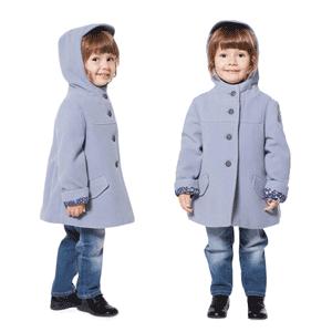 Paltoane de lana din bumbac pentru copii 4-5 si 6-7 ani