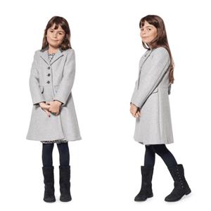 Paltoane din lana pentru fetite 8-12 ani