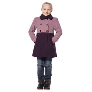 Palton scurt din lana pentru fete 8-12 ani