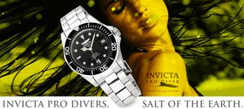 Ceasuri de mana INVICTA pentru femei si barbati seria Pro Diver