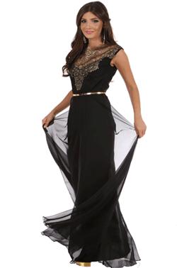 Rochie lunga din voal de culoare neagra