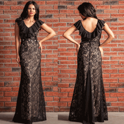 Rochie de seara din dantela neagra Hermosa