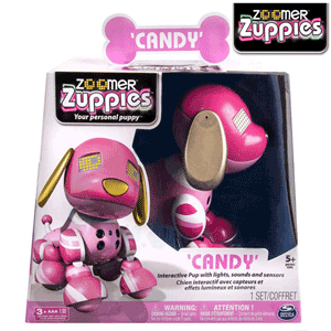 Catelul robot inteligent Candy Zoomer Zuppies de la nicoro