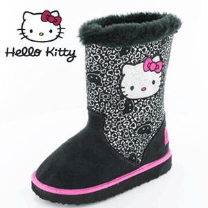 Cizmulite pentru fetite UGG Hello Kitty captusite cu blanita