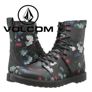 Ghete dama Volcom Go Figure Black Floral Print