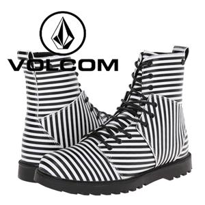 Ghete dama Volcom Go Figure Black & White Stripes