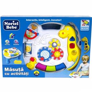 Masuta cu activitati educative pentru bebelusi Noriel Bebe