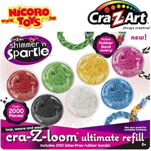 Rezerve benzi elastice CRA-Z-LOOM la Nicoro