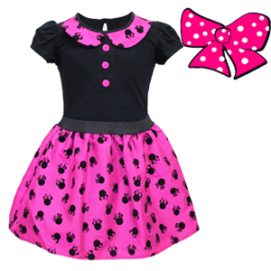 Rochita Disney Minnie Mouse cu buline