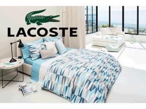 Lenjerie de pat Lacoste Malmi Twin Comforter Set culori deschise
