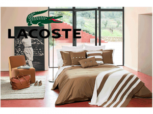 Lenjerie pat Lacoste Brushed Twill Solid Full Queen Duvet