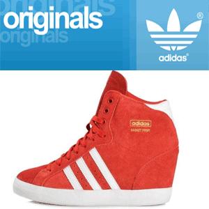 Platforme sport Adidas Originals Basket Profi Up culoare rosie