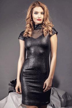 Rochie de seara din piele Dina
