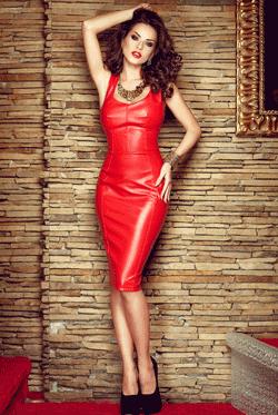 Rochie din piele Joana Rosie
