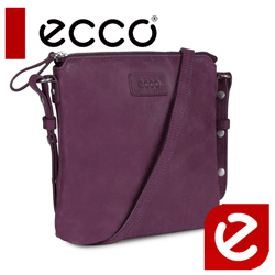 Geanta de umar casual din piele Ecco Barra culoare burgundy