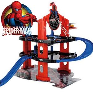 Set de joaca garaj si elicopter Spider-man