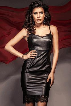 Rochie seducatoare Nadine Black cu dantela de culoare neagra