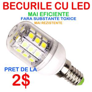 Despre Becurile cu LED - mai eficiente mai ieftine