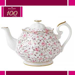 Ceainic din portelan si aur pur Royal Albert Rose Confetti