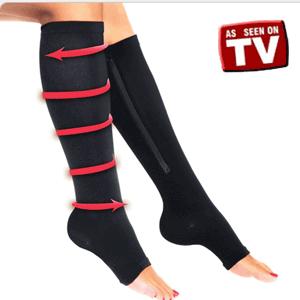 Ciorapii cu fermoar Zip Sox calmeaza picioarele