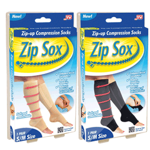 Zip Sox sosetele cu fermoar ce calmeaza durerile de picioare