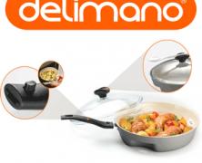 Noua tigaie Ceramica Delimano Dry Cooker Trilogy