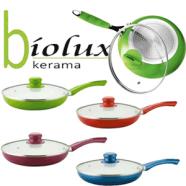 Promotie Setul de 3 tigai ceramice BIOLUX fara teflon
