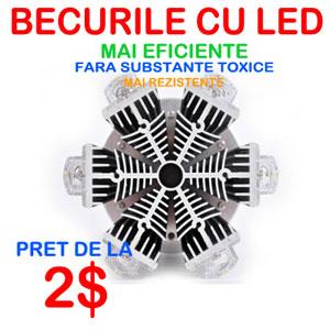 Becurile cu LED mai eficiente, sanatoase, ieftine