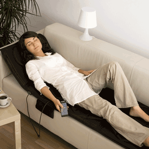 Saltea electrica de masaj profesional cu telecomanda in oferta Mediashop TV