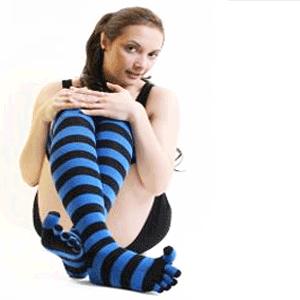 Sosete cu degete speciali pentru yoga si pilates