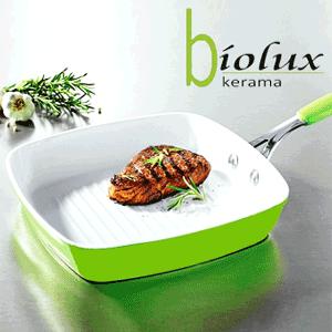 Tigaie patrata cu strat ceramic pentru gratar BIOLUX