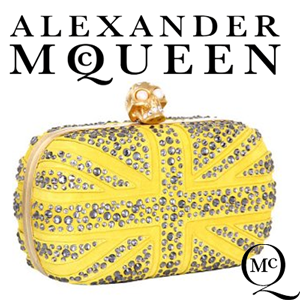 Clutch Alexander McQueen Seasonal Punk Skull