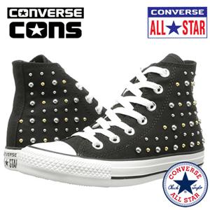 Bascheti cu tinte negri Converse Chuck Taylor All Star Canvas Studs Hi