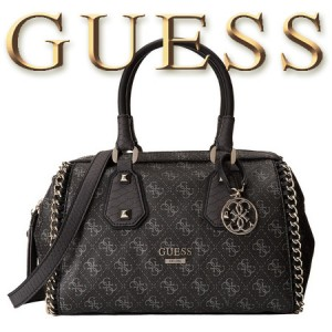 GUESS Confidential Chain Small Frame Geanta Satchel Coal