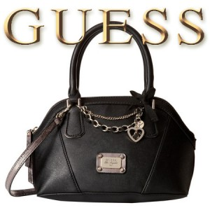 GUESS Night Angel Amour Dome Geanta neagra Satchel