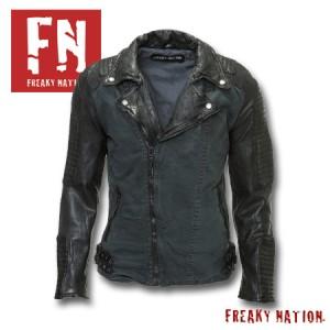 Geaca barbateasca modern biker Freaky Nation stil Mad max