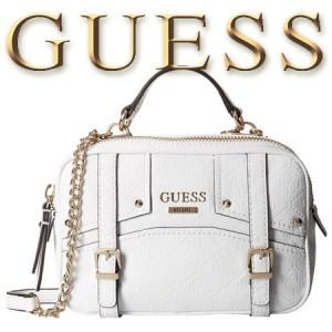 Geanta GUESS Rikki Crossbody Camera Bag White
