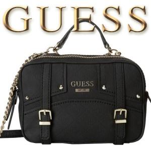 Geanta GUESS Rikki Crossbody Camera Bag neagra