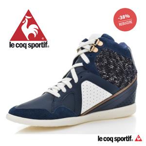 Pantofi sport cu platforma LE COQ SPORTIF pentru femei MONGE HI TWEED (142099_9 BLEUMARIN )