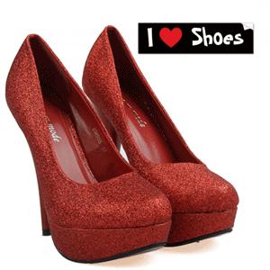 Pantofi cu toc Frezia sclipici