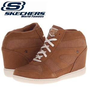 Ghete cu platforme Skechers Short Stuff Chestnut
