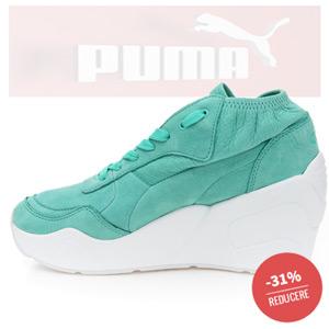 cel mai mic pret la Platforme sport PUMA femei Trinomic Wedge Laceup WNS culoare Verde