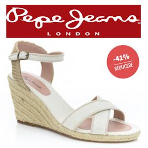 Sandale albe Platforme PEPE JEANS pentru femei SARK