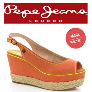 Sandale portocalii Platforme PEPE JEANS Bristol dama