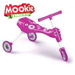 ScuttleBug Fleur Tricicleta fara pedale fetite. Tricicleta usoara si pliabila pentru fetite cu varsta peste 12 luni si pana la 3 ani