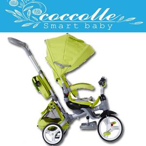 Tricicleta copii DHS Coccolle Modi 6 in 1 Green copii 8 luni 36 luni